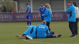An injured player
