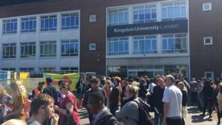 Kingston uni students evacuated