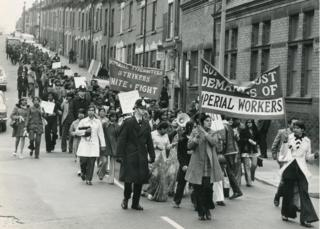 Strike protest