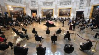 in_pictures People pay their respects to the flag-draped casket of the late Rep. John Lewis
