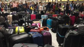 Queues at Gatwick Airport
