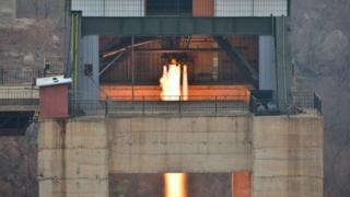 Запуск ракеты в Северной Корее