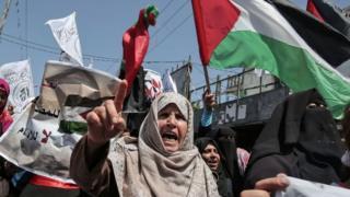 Демонстрация в поддержку ХАМАС в Газе