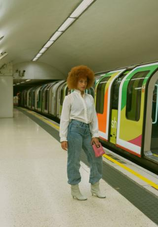 in_pictures Woman on the underground