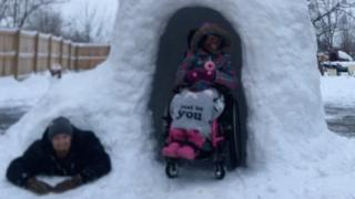 Gregg Eichhorn built an igloo for his disabled daughter