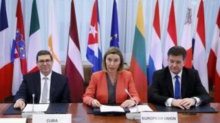 Representantes de la UE y Cuba