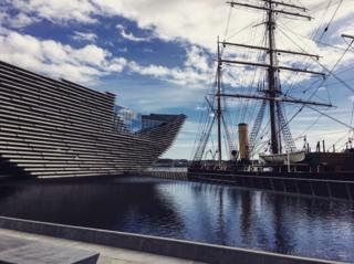 Exterior of V&A in Dundee