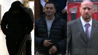 Mohsin Amin, Rexino Arapaj and David Butlin are on trial at Leeds Crown Court