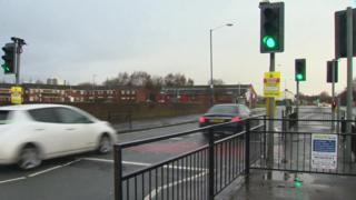Crash scene on Oldham Road