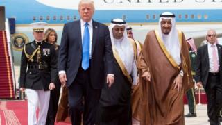 ترامپ و پادشاه عربستان