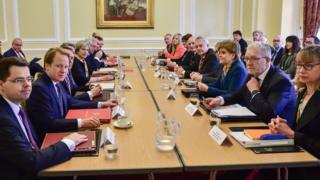 Ministers at the Joint Ministerial Committee in Cardiff