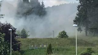 A second blaze at the Strathmartine site in four months