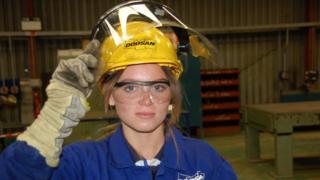 Female engineering apprentice