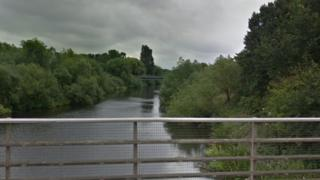 Crews were called to the River Derwent, off Raynesway, Derby, to reports of three men in the water