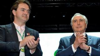 Joesley Batista, uno de los dueños de la compañía J&F y Michel Temer, presidente de Brasil