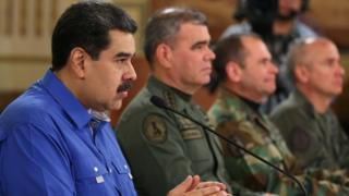 مادورو أشاد بدعم الجيش له
