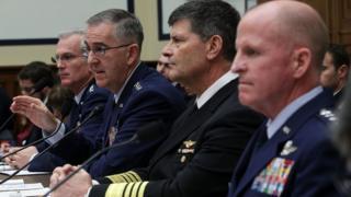 Генерал Джон Хайтен на слушаниях в конгрессе, март 2017