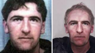 Peter McGuire (L) and what he may look like now (R)
