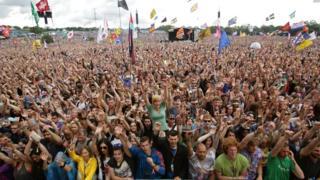 Glastonbury audience