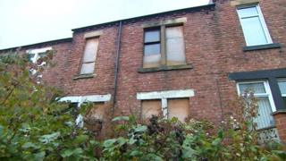 Empty flats in Lemington, Newcastle upon Tyne