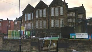 Hunters Bar Junior School is on Sharrow Vale Road and Junction Road in Sheffield
