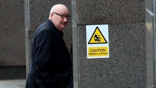 Harry Clarke arrives at court