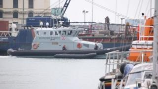 Border Force boat arrives with migrants on board