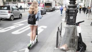 Scooter rider in Paris