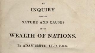 Livro 'A riqueza das nações', de Adam Smith