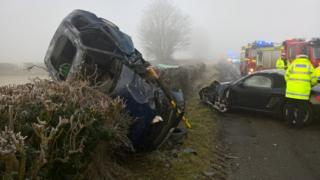 Two-car crash in Cropredy