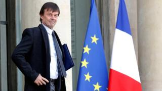 French Minister of the Ecological and Social Transition Nicolas Hulot leaves the Elysee Palace following the weekly cabinet meeting in Paris on 8 February 2018