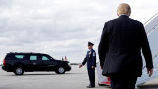 Trump departs from Florida