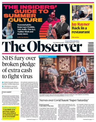 The Observer front page 05.07.20
