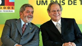 President Lula (left) and Jose Dirceu (right) - archive image