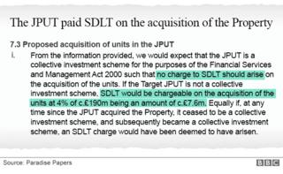 The documents show the Jersey trusts allowed no Stamp Duty Land Tax (SDLT) to be paid on St Enoch