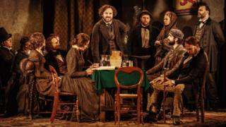 Rory Kinnear (centre) with the Young Marx cast