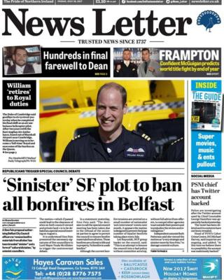 Front page News Letter Friday 28 July