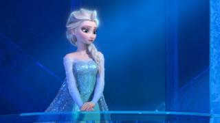Elsa the Snow Queen, voiced by Idina Menzel