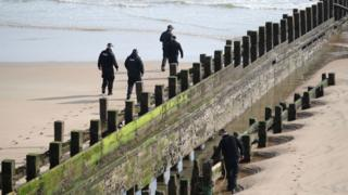 Police at Aberdeen beach