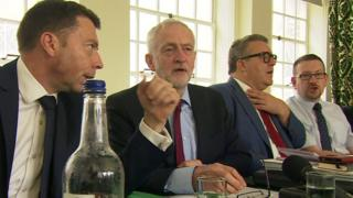 Jeremy Corbyn and shadow cabinet