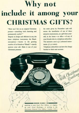 Advert for telephone