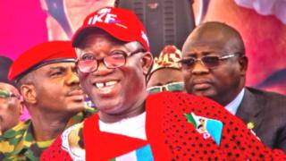 Kayode John Fayemi bin be Minister of Solid Minerals for Buhari goment until May 31, before contest di election.