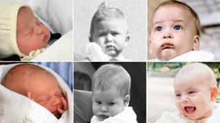 Composite royal baby pictures