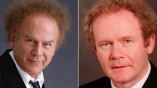 Art Garfunkel and Martin McGuinness