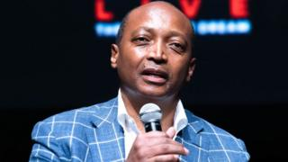 Patrice Motsepe attends press conference for Global Citizen & Teneo unveiling campaign plans and 2020 headliners at St. Ann's Warehouse