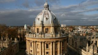 A picture of the library at Oxford