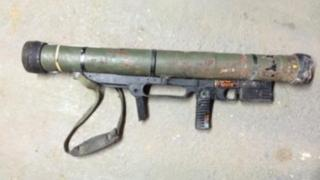 The rocket launcher that was recovered in the amnesty