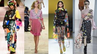 从左到右: 杜嘉班纳(Dolce & Gabbana), Diane von Furstenberg, 范哲思(Versace), Self-Portrait