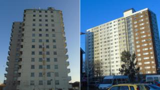 Flats in Loudon Square, Butetown and Channel View, Grangetown