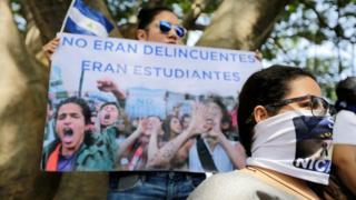Manifestação em Manágua contra governo Ortega